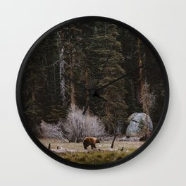 BEAR IN THE FOREST Wall Clock