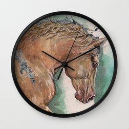 Cremello Horse Wall Clock