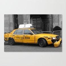 World War Z Taxi Cab Canvas Print