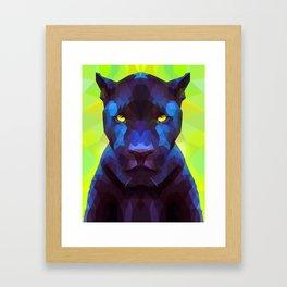 Acid Panther Framed Art Print