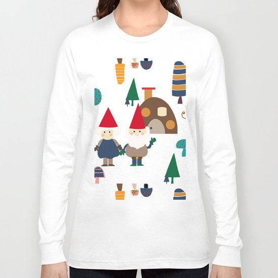 Gnome white Long Sleeve T-shirt