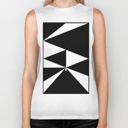 Triangles in Black and White Biker Tank