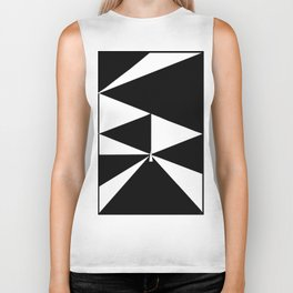 Triangles in Black and White Biker Tank