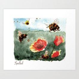 Busy Bees, Enspelled Art Print