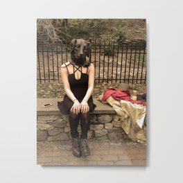 Dog Girl Metal Print