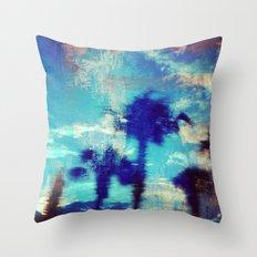Underwater Palms Throw Pillow