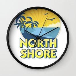 Vintage North Shore Island Surfing 70s Retro Wall Clock