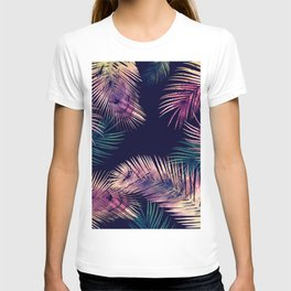 Tropical Leaves at Night T-shirt