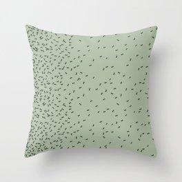 ANTS GREEN (BIG RUG) Throw Pillow