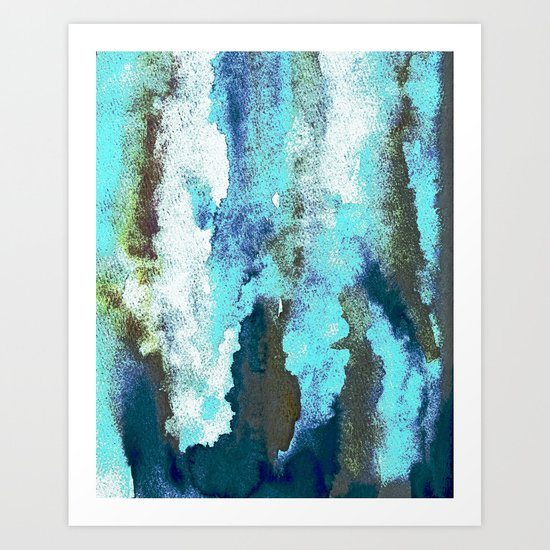Turquoise And Earth Nebula Art Print