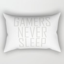 Gamers Never Sleep Rectangular Pillow
