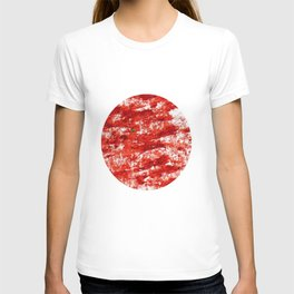 Flag of japan 3- Chalk version. T-shirt