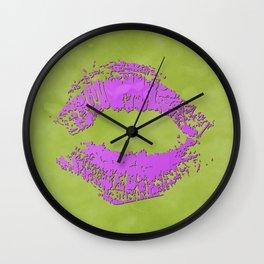 dp048-7 Watercolor kiss Wall Clock