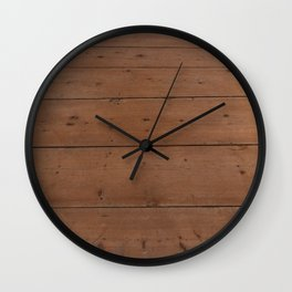 Pattern of honey-colored light wooden boards Wall Clock