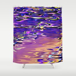 Re-Created Infinity Pool No. 7 by Robert S. Lee Shower Curtain