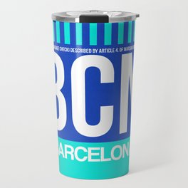 BCN Barcelona Luggage Tag 2 Travel Mug