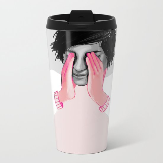 A Touch of Pink 02 Metal Travel Mug
