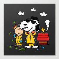 peanuts Canvas Prints featuring Breaking Peanuts by Maioriz Home