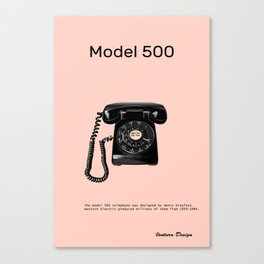 model 500 telephone Canvas Print