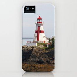 Head Habour Lightstation - Campobello Island New Brunswick Canada iPhone Case