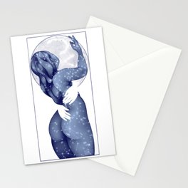 The Stars and Moon Stationery Cards