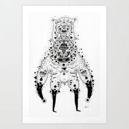Crab Man Art Print