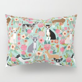 Chihuahua floral dog breed cute pet gifts for chiwawa lovers chihuahuas owners Pillow Sham