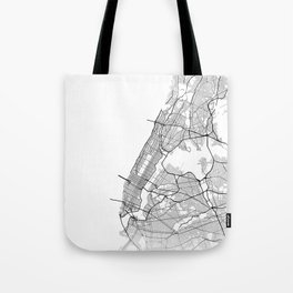 Minimal City Maps - Map Of Manhattan, New York, United States Tote Bag