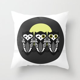 Three Little Owls Throw Pillow