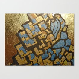 Gold cubic Eiffel tower close up Canvas Print