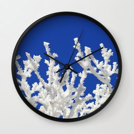 Frosty branches Wall Clock
