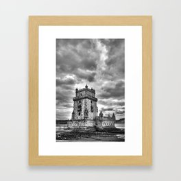 HDR Tower Framed Art Print