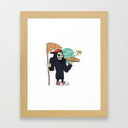 Pizza delivery reaper grim Framed Art Print
