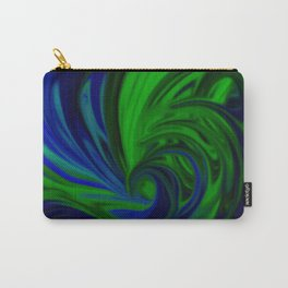Blue and Green Wave Carry-All Pouch