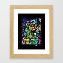 Time square montage 1  Framed Art Print