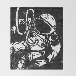 Space Man Throw Blanket