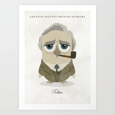 Greater-Spotted British Authors - Tolkien Art Print