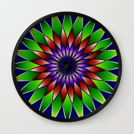 Queen of the valley mandala Wall Clock