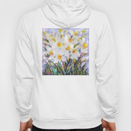 White Daffodil Meadow Hoody
