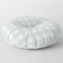 Heart Mandala – Blue Floor Pillow