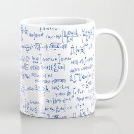 Blue Math Equations Coffee Mug