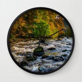 Autumn Rapids Wall Clock