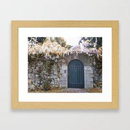 Italian garden wall Framed Art Print