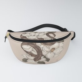 Snake and Magnolias Fanny Pack