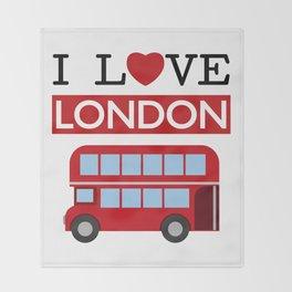 I Love London Throw Blanket