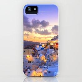 Santorini #society6 #decor #buyart iPhone Case
