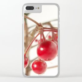 Scarlet Berry  Clear iPhone Case