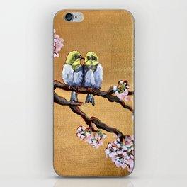 Cherry Blossom Chicks iPhone Skin