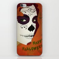 calavera iPhone & iPod Skins featuring Calavera by Eveline