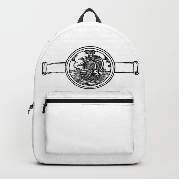 Ship stamp Backpack